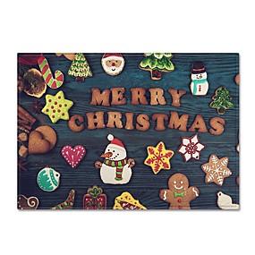 preiswerte Textilien für Zuhause-Vorleger Weihnachten Polyester, Rechteck Gehobene Qualität Teppich