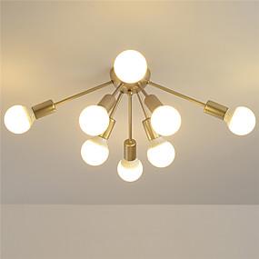 voordelige Plafondverlichting & Ventilatoren-EMPEROR LANG 8-Light 80 cm Nieuw Design Plafond Lampen Metaal Geschilderde afwerkingen Modern / Noordse stijl 110-120V / 220-240V / E26 / E27