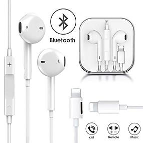 billige Kablede ørepropper-kablete hodetelefoner som lader musikk 2 i 1 bluetooth-øretelefoner for apple iphone x xr xs maks 8 7 pluss 11 11 pro max lyn stereo øretelefoner med mikrofonhøretelefoner