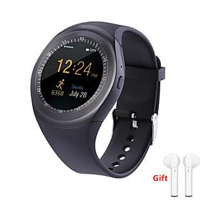 hesapli Yeni Gelenler-Indear Y1 Erkekler kadınlar Akıllı İzle Android iOS Bluetooth 2G Su Geçirmez Dokunmatik Ekran Sporlar Yakılan Kaloriler El Kullanmadan Aramalar Kronometre Pedometre Arama Hatırlatıcı Aktivite