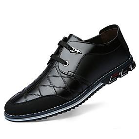 cheap Shoes & Bags-Men's Comfort Shoes Cowhide Fall & Winter Oxfords Black / Brown / Blue