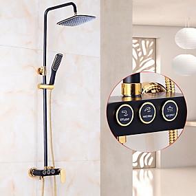 preiswerte Duscharmaturen-Duscharmaturen - Moderne Wandmontage Keramisches Ventil Bath Shower Mixer Taps