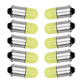 billige Side Marker Lights-10stk ba9s t4w 363 1895 233 super lyse runde 3d cob ledet ren hvit bilens lisenskilt lyspære autolampe markør lys dc 12v