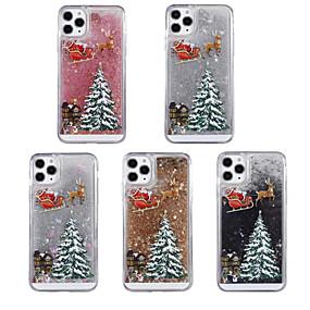 preiswerte Weihnachtsfälle-Hülle Für Apple iPhone 11 / iPhone 11 Pro / iPhone 11 Pro Max Mit Flüssigkeit befüllt / Muster / Glänzender Schein Rückseite Weihnachten TPU