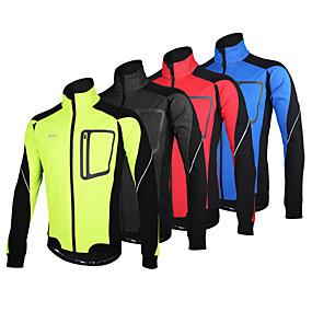 cheap Under €39-Arsuxeo Men's Cycling Jacket Bike Jacket Winter Fleece Jacket Top Thermal / Warm Windproof Fleece Lining Sports Polyester Spandex Fleece Winter Red / Blue / Light Green Mountain Bike MTB Road Bike