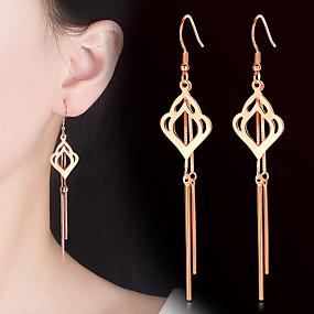 preiswerte Schmuck & Armbanduhren-Damen Tropfen-Ohrringe Quaste Vertikal Modisch Ohrringe Schmuck Gold / Silber Für Party Geschenk Alltag 1 Paar