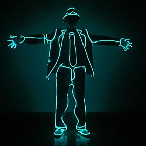 povoljno Nova svjetla-1set LED odjeća / LED šešir Plavo AA baterije su pogonjene Cool 12 V