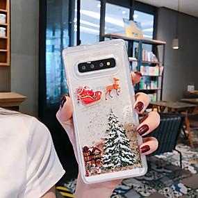 povoljno Maske za mobitele-Θήκη Za Samsung Galaxy S9 / S9 Plus / S8 Plus S tekućinom / Uzorak / Šljokice Stražnja maska drvo / Božić TPU