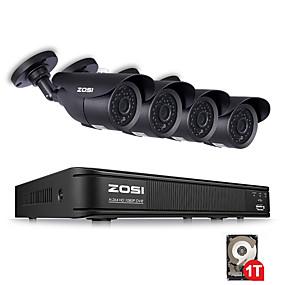 preiswerte DVR Set-zosi 4ch 1080p hd-tvi überwachungskamera cctv system p2p ir nachtsicht 4 stücke 2.0mp outdoor hd kamera überwachung kit app view