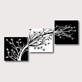 povoljno Slike za cvjetnim/biljnim motivima-Hang oslikana uljanim bojama Ručno oslikana - Sažetak Cvjetni / Botanički Comtemporary Moderna Uključi Unutarnji okvir / Tri plohe