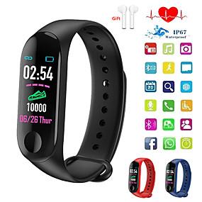 billige Nyheter-Indear QW-M3 Menn kvinner Smart armbånd Android iOS Bluetooth Pekeskjerm Pulsmåler Blodtrykksmåling Sport Kalorier brent Pedometer Samtalepåminnelse Aktivitetsmonitor Søvnmonitor Stillesittende