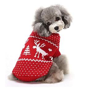 preiswerte Sport & Hobbys-Hunde Pullover Winter Hundekleidung Rot Blau Kostüm Corgi Beagle Shiba Inu Acrylfasern Rentier Lässig / Alltäglich Weihnachten XS S M L XL XXL