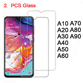 cheap Screen Protectors-Tempered Glass For Samsung A70 A60 A50 A40 A30 A20 A10 Protective Glass Screen Protector Safety on Galaxy A80 A90