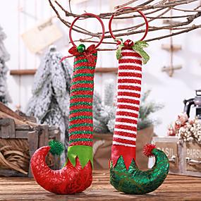 povoljno Darovi i pokloni za zabave-Ukrasi Tkanina 1 komad Božić