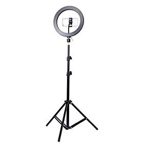 preiswerte Beleuchtung, Studio und Zubehör-Fotografie LED Selbstauslöser Ringlicht 26cm Metall dimmbar Fotografie / Handy Ringlicht mit 110 / 160cm Stativ für Make-up Video Studio