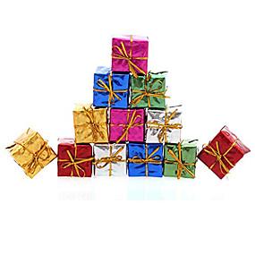 preiswerte Dekoration für Zuhause-12st Weihnachtsdekoration Geschenke Rolle ofing Weihnachtsbaum Ornamente Weihnachtsgeschenk Farbe zufällig