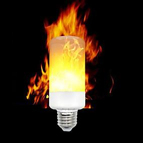 billige Stearinlyslamper med LED-1pc led flammeeffekt brannpærer e12 e14 e27 base 3528 smd 3 moduser flimrende halloween juledekorasjon ac 85-265 v