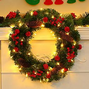 povoljno Božična svjetla-1set Dekoracija Light / Božična rasvjeta Toplo bijelo AA baterije su pogonjene Ukrasno / Lijepa i elegantna 5 V Festival / Praznik / Božić