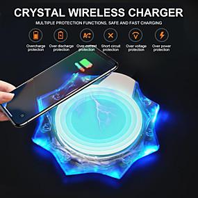 billige Trådløse ladere-krystall trådløs ladepute mobiltelefon trådløs mottaker ladebase universell ladebase for apple ios android