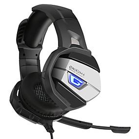 levne Hraní her-ONIKUMA K5 Herní sluchátka Kabel Hraní her Stereo Dvojité ovladače s mikrofonem