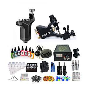 preiswerte professionelle Tattoo-Kits-basekey tattoo machine starter kit - 2 tlg. tattoo maschinen mit 7 x 15 ml tattoo tinten