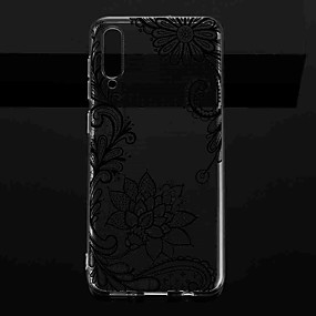 cheap Samsung Case-Case For Samsung Galaxy S9 / S9 Plus / S8 Plus Transparent / Pattern Back Cover Flower TPU