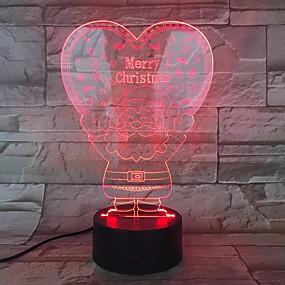 preiswerte 3D-Nachtlichter-weihnachtsmann 3d nachtlichter weihnachtsgeschenke led kleine tischlampen