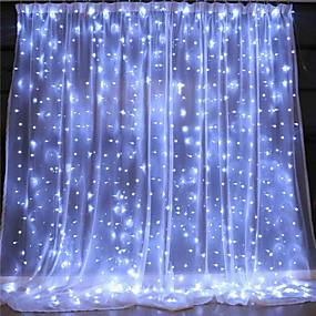 povoljno LED svjetla u traci-3 * 3 m Savitljive LED trake Žice sa svjetlima 300 LED diode 1pc Toplo bijelo Hladno bijelo Cuttable Božićni vjenčani ukrasi Zavjese za žice zavjesa USB napajanje