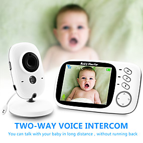 preiswerte Baby Monitore-digitale 3mp cmos drahtlose 6mm Linse Nachtsicht Babyphone Zweiwege-Gegensprechanlage IP-Kamera Temperaturanzeige Wiegenlied Energiesparmodus Home Security Kamera