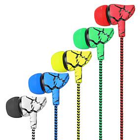levne Hraní her-originální do uší sluchátka bezva splétaná kabeláž s mikrofonem 5 barevných náhlavních souprav hifi sluchátka basy vysoce kvalitní sluchátka do uší