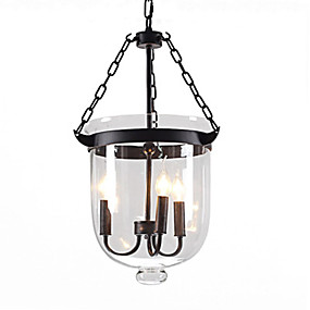 povoljno Viseća rasvjeta-3-Light Bubanj Privjesak Svjetla Ambient Light Slikano završi Metal Glass Kreativan 110-120V / 220-240V