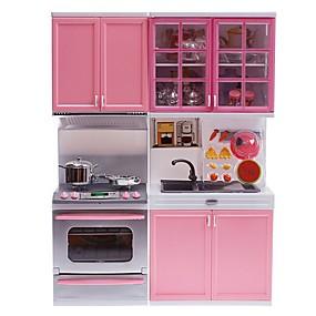 halpa Rooliasut ja pukeutumisleikit-Toy Kitchen Asettaa Muuttumisleikit Keittiö Sink Toy Mini Puhtaampia leluja Ruoanlaitto Luova Vanhempien ja lasten vuorovaikutus Muovit Lasten Lapsen Poikien Tyttöjen Lelut Lahja