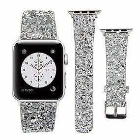billige Tilbehør til smartklokke-apple watch skinnbånd 38mm 40mm 42mm 44mm woman bling glitter stropp erstatning iwatch series 5 4 3 2 1 sport utgave
