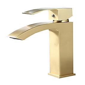 preiswerte Armaturen-Waschbecken Wasserhahn - Bodenstand Gebürstet Freistehend Einhand Ein LochBath Taps