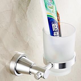 preiswerte Zahnbürstenhalter-Zahnbürstenhalter Neues Design / Cool Modern Aluminium 1pc Wandmontage
