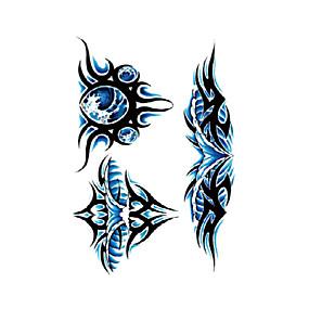 preiswerte Temporäre Tattoos-1 Stück temporäre Tattoos wasserfest / Einweg Gesicht / Körper Wassertransfer Sticker Tattoo Sticker