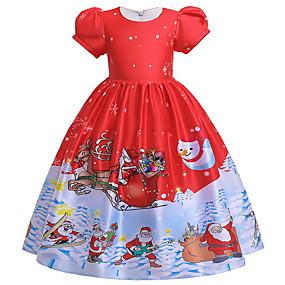 preiswerte Baby & Kinder-Kinder Mädchen Verziert Weihnachten Kleid Blau