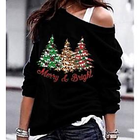 preiswerte Damenbekleidung-Damen Buchstabe T-shirt Schwarz