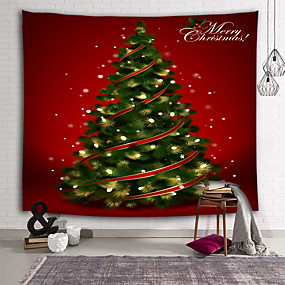 cheap Wall Art New Arrivals-Holiday Wall Decor 100% Polyester New Year's Wall Art, Wall Tapestries Decoration