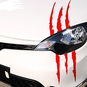 levne Dekorace automobilových nárazníků-40cmx12cm vtipné auto nálepka reflexní monstrum poškrábání pruh dráp značky auto auto světlomet dekorace vinyl nálepky auto nálepky