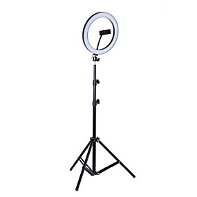 cheap Indoor Lighting-Photo LED Selfie Ring Fill Light 10inch Dimmable Camera Phone 26CM Ring Lamp With Stand Tripod For Makeup Video Live Studio