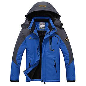 preiswerte Leisure-Herrn Skijacke warm halten Wasserdicht Windundurchlässig Skifahren Camping & Wandern Snowboarding 100% Polyester Winterjacken Skikleidung