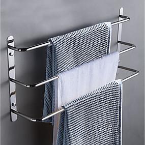 billige Håndklestenger-Tilbehørssett til badeværelset / Håndklestang / Krok Flerlags / Nytt Design / Kul Moderne / Antikk Rustfritt Stål 1pc - Baderom / Hotell bad 3-håndkle bar Vægmonteret