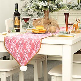 baratos Lembrancinhas & Presentes para Festas-Toalhas Finas de Mesa Tecido 1 Peça Natal