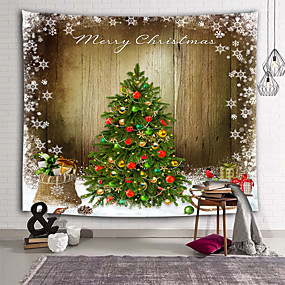 cheap Christmas Wall Decor-Holiday Wall Decor 100% Polyester New Year's Wall Art, Wall Tapestries Decoration