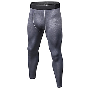cheap Men's Activewear-YUERLIAN Men's High Waist Running Tights Leggings Compression Pants Athletic Base Layer Tights Leggings Spandex Elastane Winter Fitness Gym Workout Running Tummy Control Butt Lift Quick Dry Sport