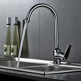 preiswerte Haus & Garten-Armatur für die Küche - Einhand Ein Loch Chrom Freistehend Moderne Kitchen Taps