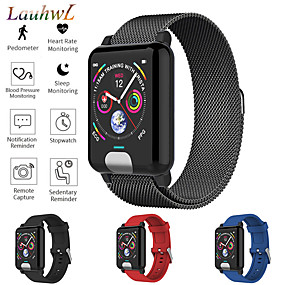 cheap Smart Watches-Smartwatch Digital Modern Style Sporty Silicone 30 m Water Resistant / Waterproof Heart Rate Monitor Bluetooth Digital Casual Outdoor - Black Black / Gray Red