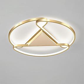 cheap Ceiling Lights & Fans-1-Light 45 cm Flush Mount Lights Metal Linear Gold Anodized Contemporary LED 110-120V 220-240V