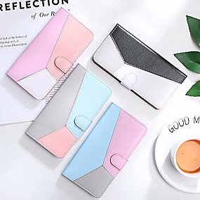 cheap Samsung Case-Case For Samsung Galaxy S9 / S9 Plus / S7 edge Wallet / Card Holder / with Stand Full Body Cases Solid Colored PU Leather